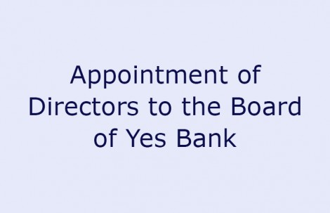 Appointment of Directors to the Board of Yes Bank