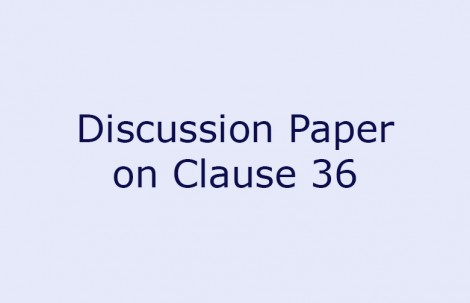 Discussion Paper on Clause 36