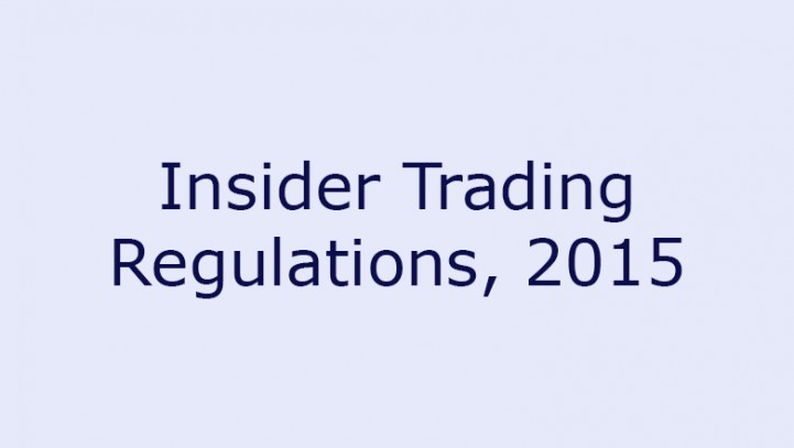 Insider Trading Regulations, 2015