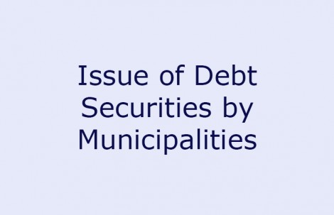 Issue of Debt Securities by Municipalities