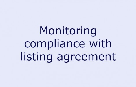 Monitoring compliance with listing agreement
