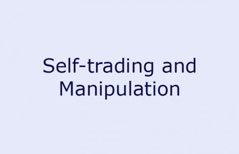 Self-trading and Manipulation