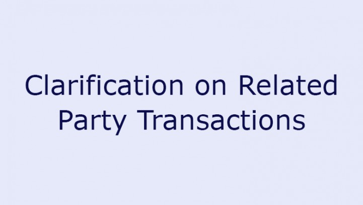Clarification on Related Party Transactions