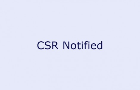 CSR Notified