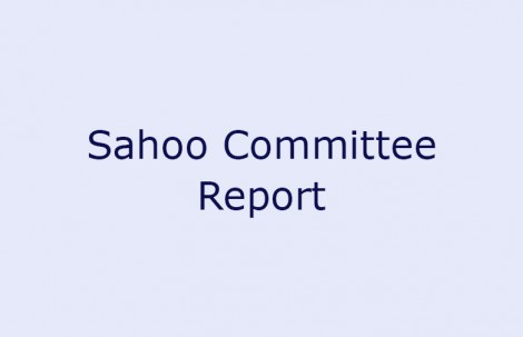 Sahoo Committee Report