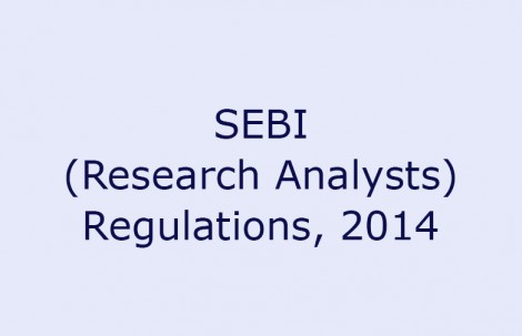 SEBI (Research Analysts) Regulations, 2014