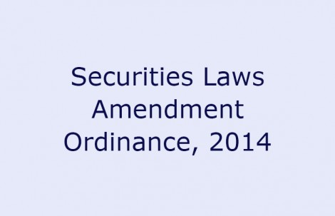 Securities Laws Amendment Ordinance, 2014