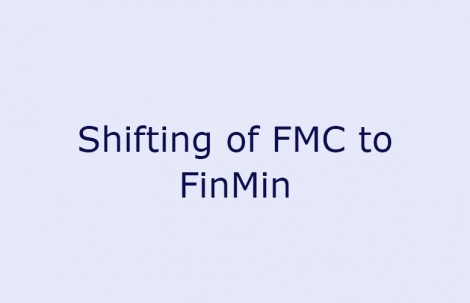 Shifting of FMC to FinMin