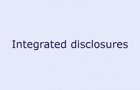 Integrated disclosures