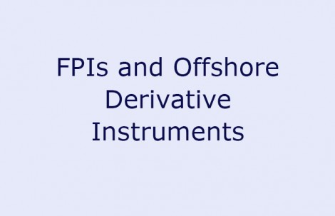 FPIs and Offshore Derivative Instruments