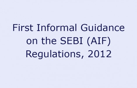 First Informal Guidance on the SEBI (AIF) Regulations, 2012