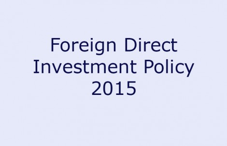 Foreign Direct Investment Policy 2015