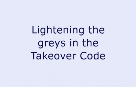 Lightening the greys in the Takeover Code