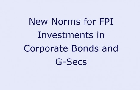New Norms for FPI Investments in Corporate Bonds and G-Secs