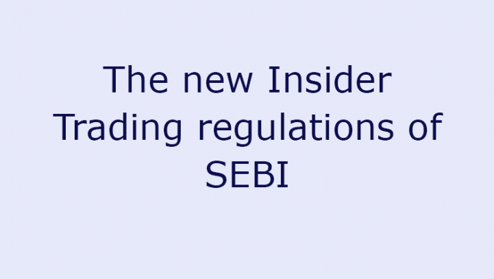 The new Insider Trading regulations of SEBI