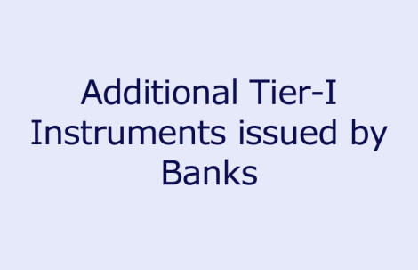 Additional Tier I Instruments issued by Banks
