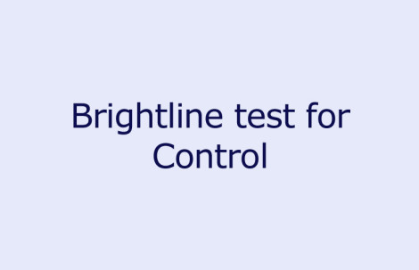 Brightline test for Control