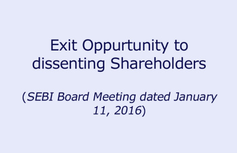 Exit Opportunity to dissenting Shareholders