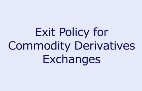 Exit Policy for Commodity Derivatives Exchanges