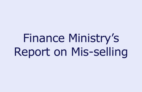 Finance Ministry's Report on Mis-selling