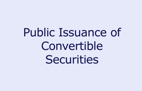 Public Issuance of Convertible Securities
