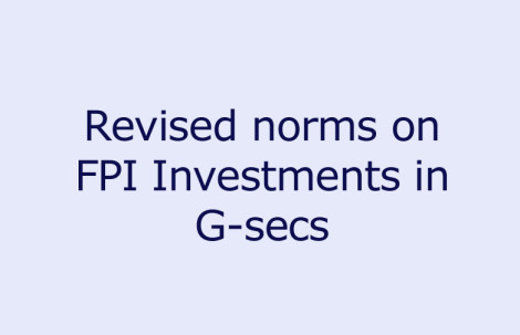 Revised norms on FPI Investment in G-secs