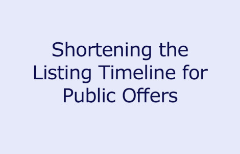 Shortening the Listing Timeline for Public Offers